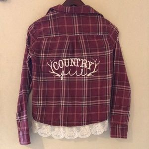 "Tops - Vintage Flannel - ""Country Girl"""